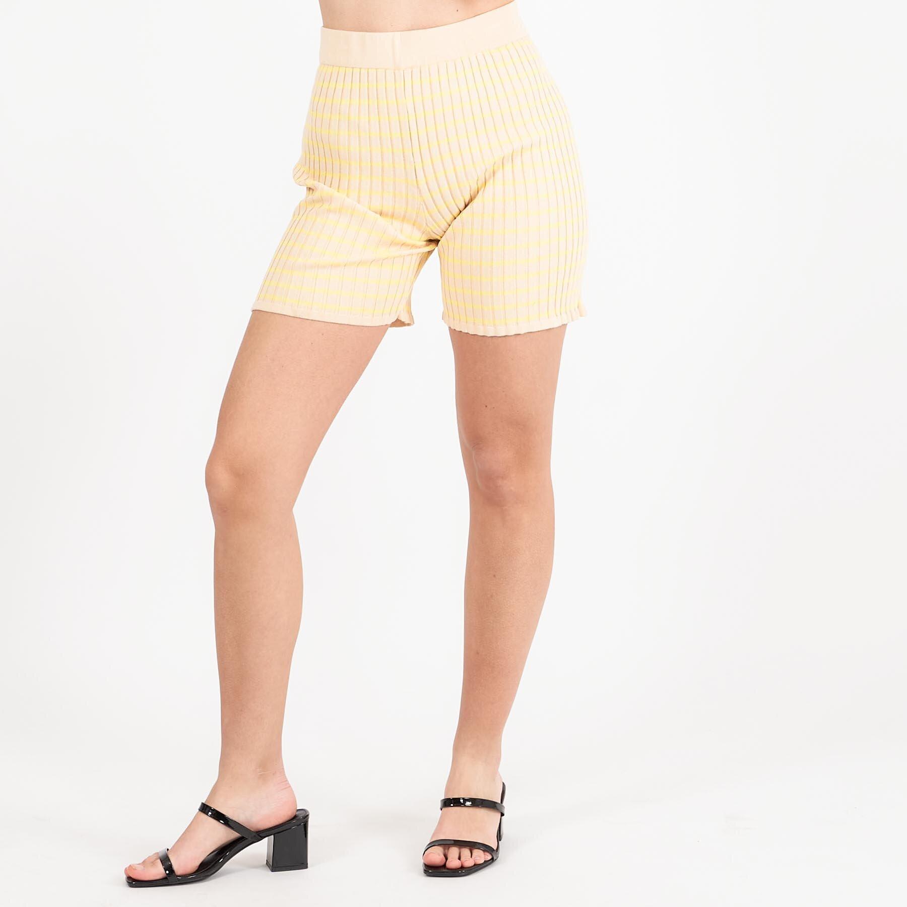 Køb A-view – Sira shorts – Shorts til damer – 081 BEIGE/YELLOW – 34