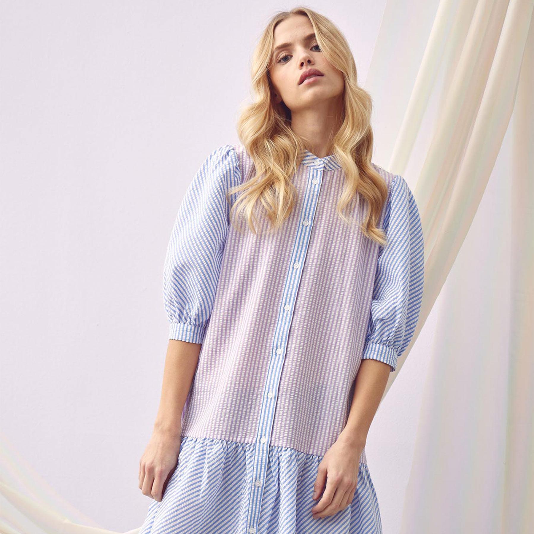 Køb A-view – Rikke dress  – Kjoler til hende – 053 BLUE/LAVENDER – 34