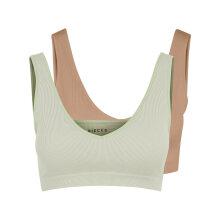Pieces - Pcsymmi rib bra 2-pack