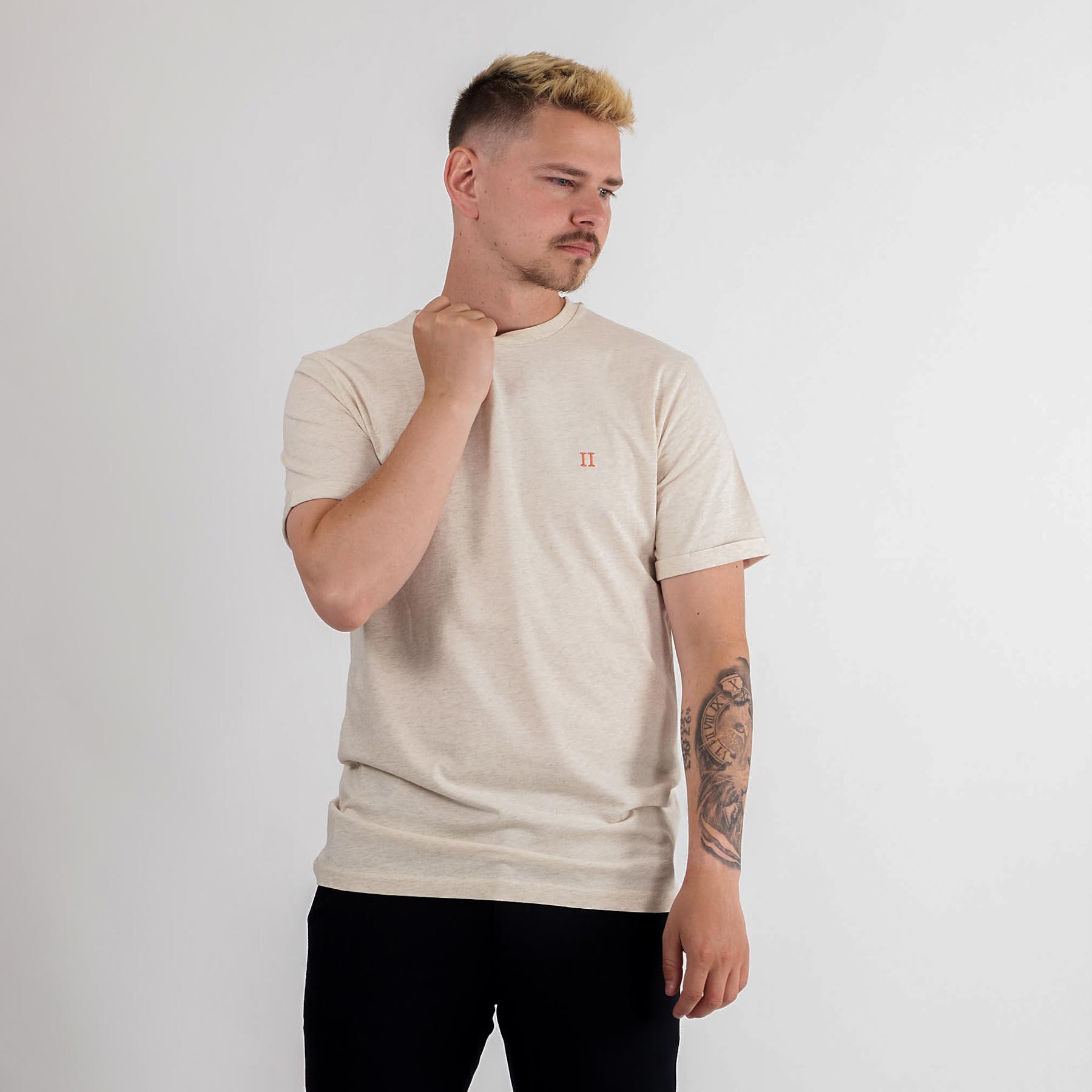 Les Deux - Nørregaard t-shirt - T-shirts til mænd - 216730-IVORY MELANGE - M