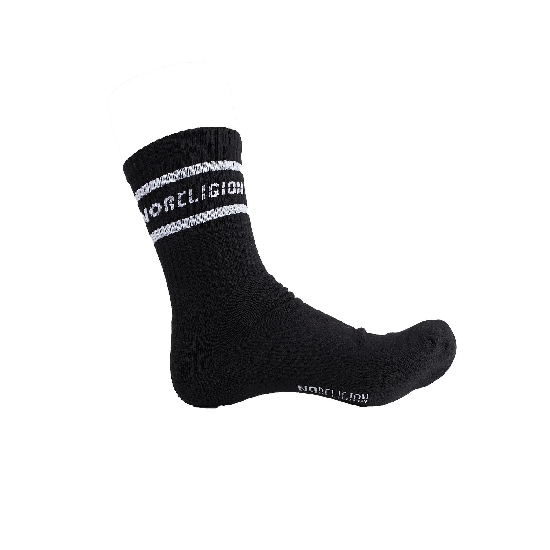 Noreligion - Tennis sock - Undertøj til mænd - B/BLACK W. WHITE - O/S