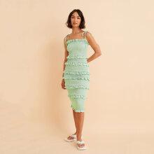 NA-KD - Satin smocked dress